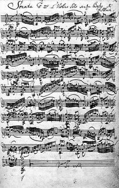 Violin Sonata in Bach's Handwriting