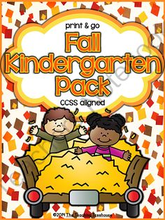 Fall Kindergarten Pack ~ Print & Go ~ CCSS Aligned from The Teaching Treehouse on TeachersNotebook.com -  (82 pages)  - This packet contains Fall/Autumn themed alphabet practice, rhyming, syllables, reading comprehension, patterns, numbers 1-20, counting, adding, subtracting, shapes, and more! 81 ready to use, no prep printables in ink saving black and white. This pack is