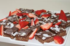 Chocolate Slice with Strawberries
