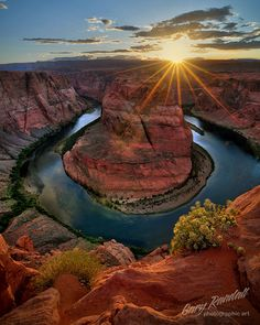 Sunset Over Horseshoe Bend, Arizona