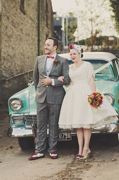 Hand fasting colourful outdoor wedding