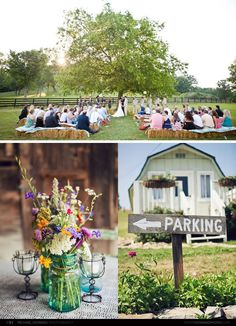 bottom left picture - cute country chic centerpiece