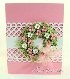 Wreath Pink and White - I would love to make a big one, it's so cute ;)