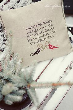 Plum Street Samplers - Christmas Tea by loretoidas, via Flickr