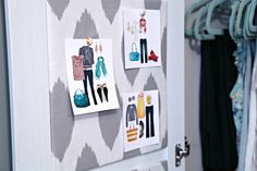 Printing your favourite Pinterest  clothing combos for inspiration in the closet.