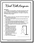 Word Wall Hangman Freebie from the Balanced Literacy Page on Teaching Resources - great for partner play during literacy centers.