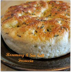 Rosemary & Sea Salt Focaccia ~ I used my old standby pizza dough recipe and the resulting bread was beautifully light and delicious!