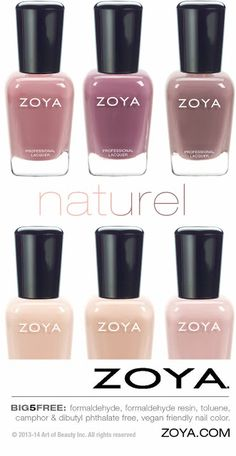 BIG5FREE! Zoya Naturel Nail Polish Collection for 2014 - six new, full-coverage neutral nudes with pink undertone