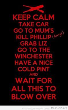 film, stuff, funni, zombi, keepcalm, movi, keep calm, dead, shaun