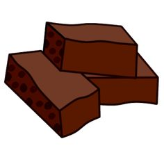 Plate of brownies clipart