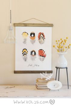 Vintage Inspired Science Posters - FEATHER PATTERNS VOL. 3. $65.00, via Etsy.