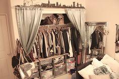 Curtained closet