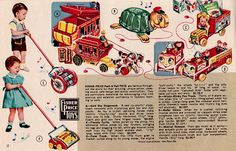 Mid 50s Vintage Toy Catalog page.