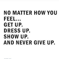 never give up...