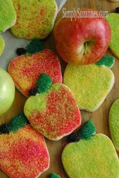 Simply Suzanne's AT HOME: cinnamon sugar cookies . . . and apples, apples, apples for Teacher!