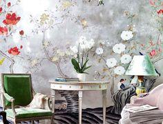 De Gournay silk wallcovering