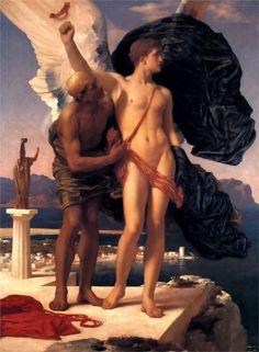 Icarus and Daedalus, 1869 Frederic Leighton