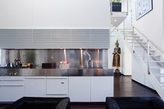 Sleek kitchen