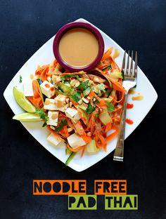 vegan: noodle free tofu pad thai...