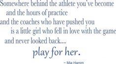 Mia Hamm quote