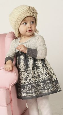 Sweater Dress for little girl with knitted hat      THE LADIE'S IN CEMO KNIT  AND AVA IS SO PROUD OF HER THING'S