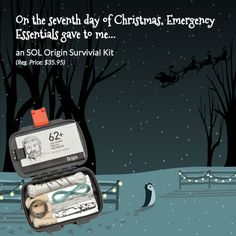 12 Days of Giveaways--Day 7: an SOL Origin Survival Kit!!!