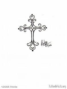tattoo ideas, tat idea, eleg cross, elegant cross tattoo, tiny tattoo