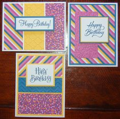 Confetti Wishes gender neutral cards (original designs by Michelle Snyder). Crop Circles, Ink. Stamping & Scrapbooking