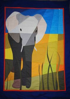Elephant Quilt, designed and made by nuuk; love!