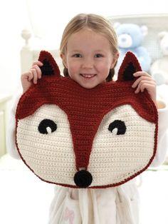 Foxy PJ Pillow | Yarn | Free Knitting Patterns | Crochet Patterns | Yarnspirations