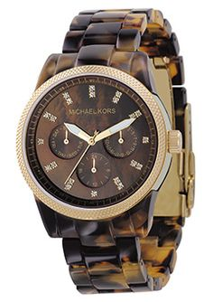 Michael Kors Ladies Acrylic Tortoise Bracelet Watch | Cheeky Wish List | Wedding and Birthday Gift Ideas for Men and Women