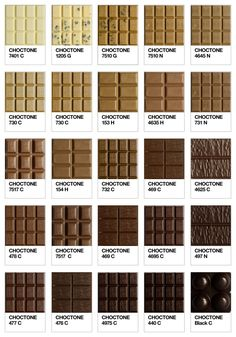 Pantone chocolate chart
