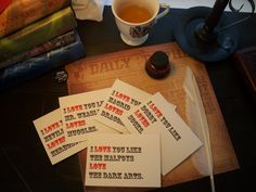 hp valentines... the best kind of Valentines :)