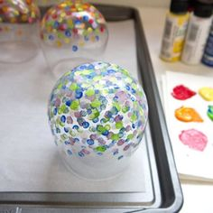 DIY hand painted glassware
