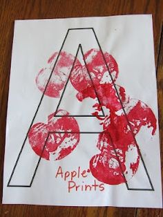 Letter A craft. abc