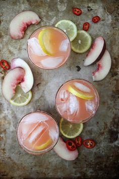 Spicy white peach lemonade