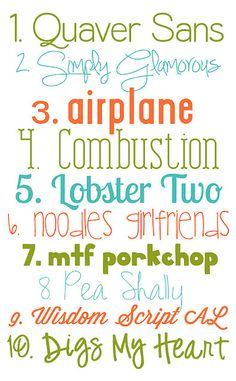Free Fonts.