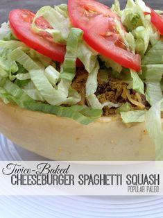 Paleo Twice-Baked Cheeseburger Spaghetti Squash | Popular Paleo