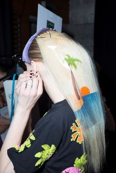 Cool hair stencils were cool by Alan White for GHD and his team for Emma Mulholland.