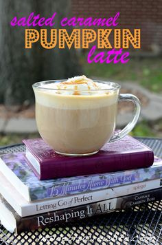 Salted Caramel Pumpkin Latte - coffee, milk, pumpkin puree, and caramel in a delicious fall latte