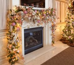 Romantic Christmas Mantel Decorations   #christmas #xmas #holiday #decorating #decor