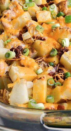 Loaded Baked Potato Casserole Recipe baked potatoes, bake potato, potato casserol