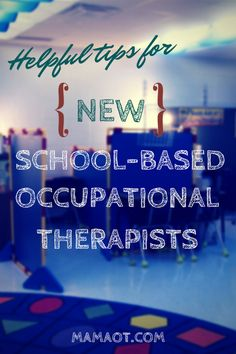 Helpful tips for new school-based OTs, including suggestions for how to set up your schedule at the beginning of the year!