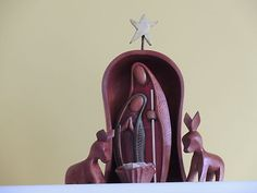 "8"" tall wooden Nativity set"