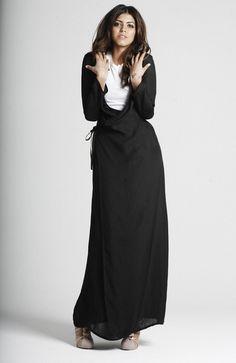 wrap dresses, hijab fashion, maxi dresses, black hijab, hijab dress