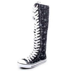 West Blvd Womens Canvas Sneakers Punk Skate Shoes Flat Lace Up Knee High Boots Skater Tall Dress Fashion Casual Designer Comfort, Black Star Linen, US 10 West Blvd,http://www.amazon.com/dp/B00D3A6FG2/ref=cm_sw_r_pi_dp_8UN8rb18R0KV9J36