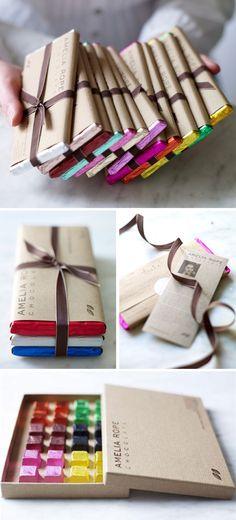 amelia rope chocolate packaging
