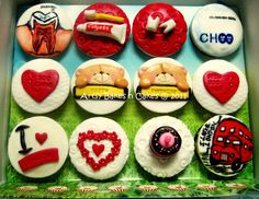 Cupcakes For a Dentist - by ArtsyBakesnCakes @ CakesDecor.com - cake decorating website