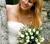 White tulip wedding bouquet