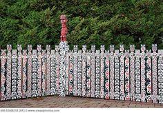 Picket fence at the Government Gardens, Rotorua, Bay of Plenty, Aotearoa, New Zealand